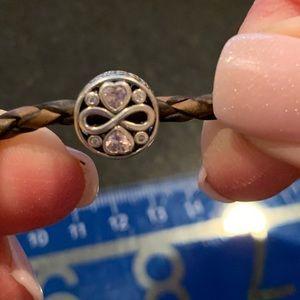 Pandora rope bracelet with charm